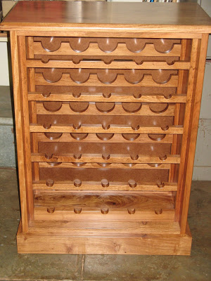 Wine-rack made of Rhodesian teak
