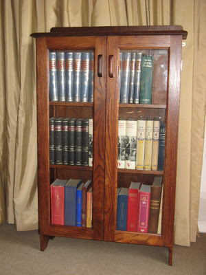 Restored oak book-shelf