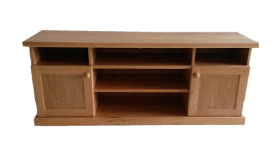 Cabinet for flat screen TV made of cherry-wood