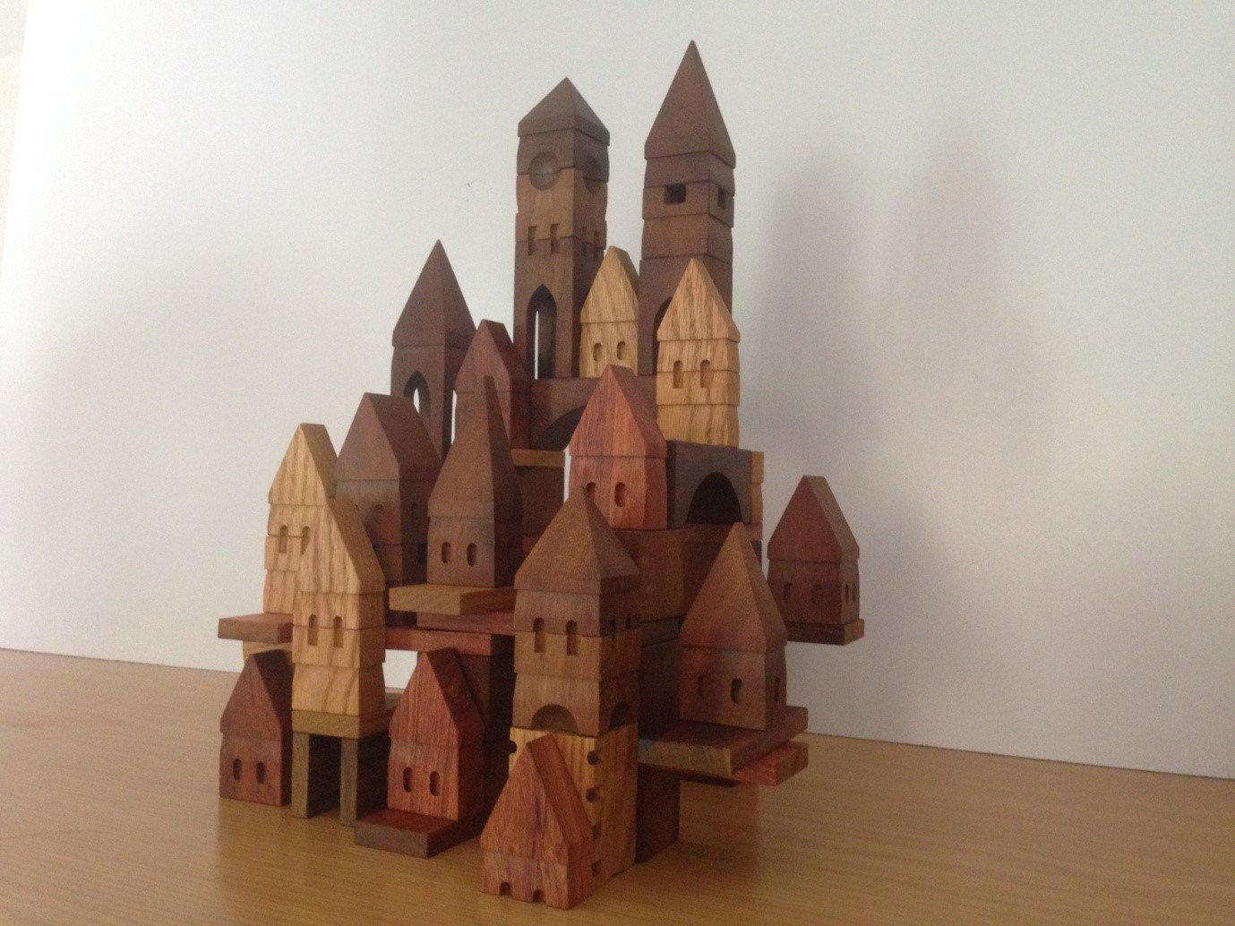 Medieval city. Set of 60 blocks
